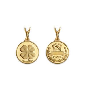 Lyckopenning 18k guld 15 mm
